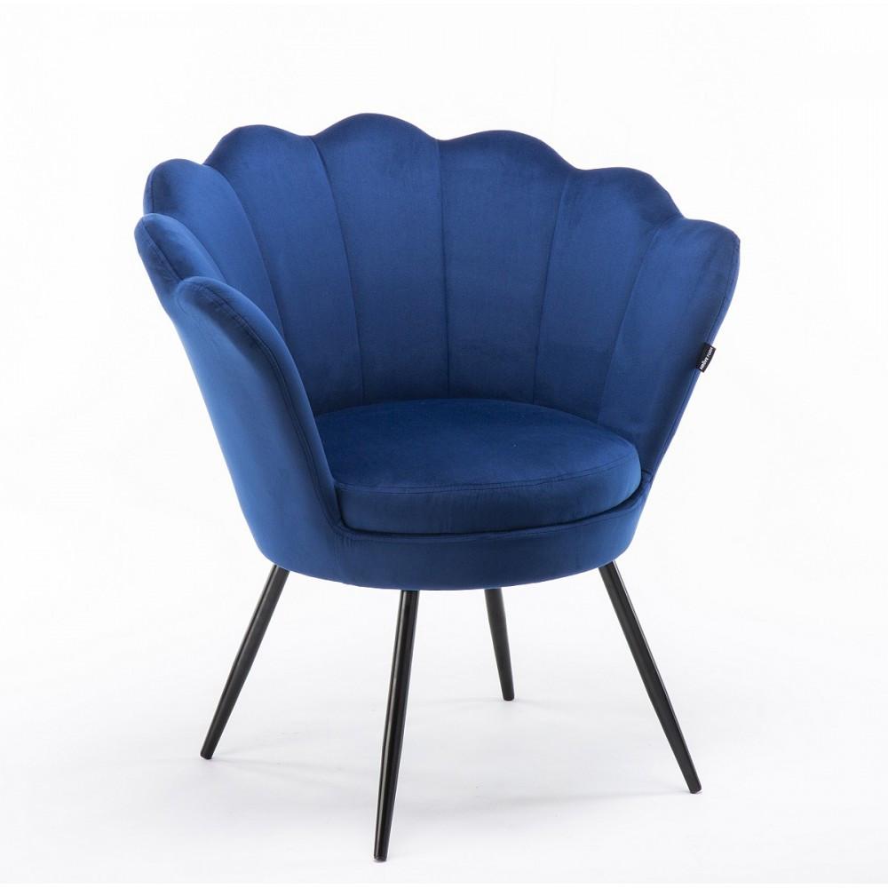 Кресло Hrove Form Frey синий велюр опора черная