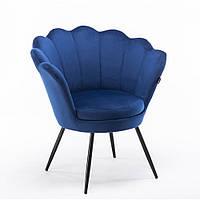 Кресло Hrove Form Frey синий велюр опора черная, фото 1