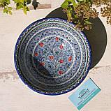 Тарелка глубокая ~950 мл, d 21.5 см, h 7.5 см. Ручная роспись. Узбекистан (8), фото 2