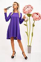 Платье однотонное, сиреневое, ассиметрия 104R040
