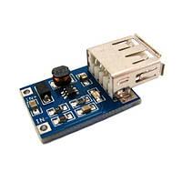 Преобразователь напряжения DC-DC повышающий 0.9-5В на 5В + USB-разъем