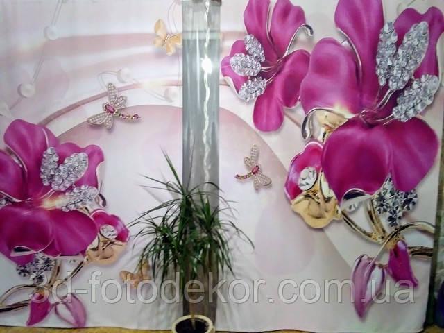 3д цветы и стразы на шторах