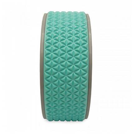 Колесо для йоги и фитнеса LiveUp YOGA RING голубой, фото 2