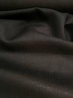 Льняная легкая ткань черного цвета, фото 1