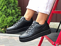 Кроссовки женские демисезонные в стиле Nike Air Force, черные