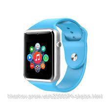 Смарт часы A1 Голубые Original Smart Watch Смарт часи A1