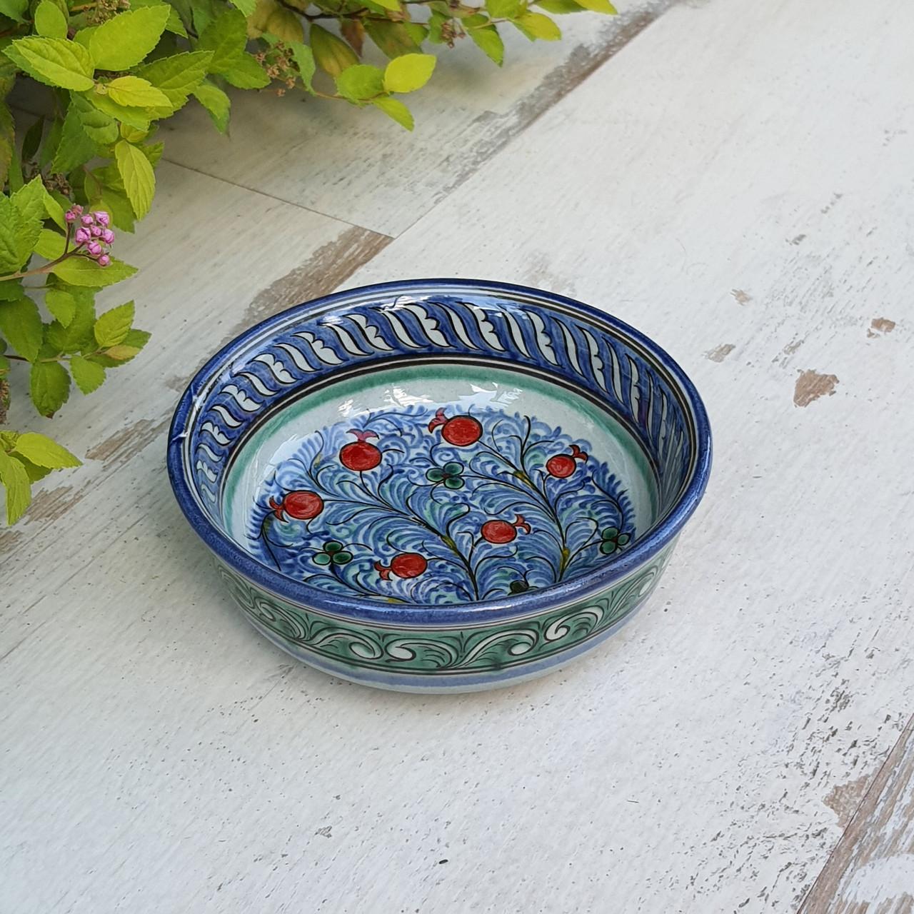 Узбекская пиала с плоским дном ~180 мл. Ручная роспись (7)