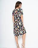 Принтованное платье с короткими рукавами и карманами S, фото 3
