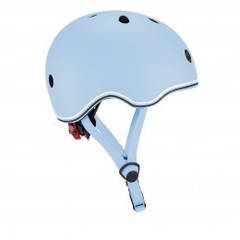 Защитный шлем детский Globber Evo Light, пастельный синий, с фонариком, 45-51см (XXS/XS) 506-200