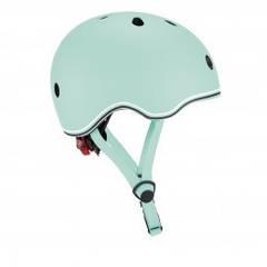 Защитный шлем детский Globber Evo Light, пастельный зеленый, с фонариком, 45-51см (XXS/XS)  506-206