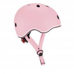 Защитный шлем детский Globber Evo Light, пастельный розовый, с фонариком, 45-51см (XXS/XS) 506-210