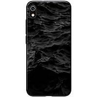 Чехол на Xiaomi Redmi 7A / Ксиоми Редми 7А море / черный