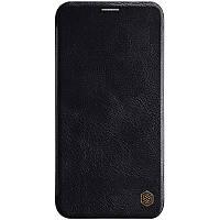 Кожаный чехол книжка на iPhone 11 Pro Max (6,5 дюйм) / Айфон 11 Про Макс (6,5 дюйм) черный