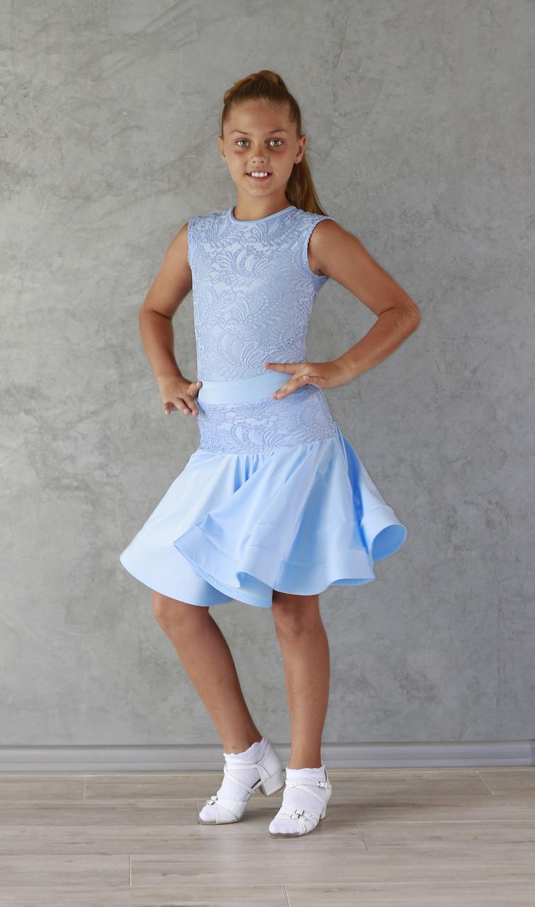 Рейтингове плаття Бейсік для бальних танців Sevenstore 9107 Ніжно блакитний