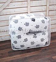Подушка для беременных U-образная 3 в 1 со съемной наволочкой и молнией MamBaby APPLE на белом 170х75 см