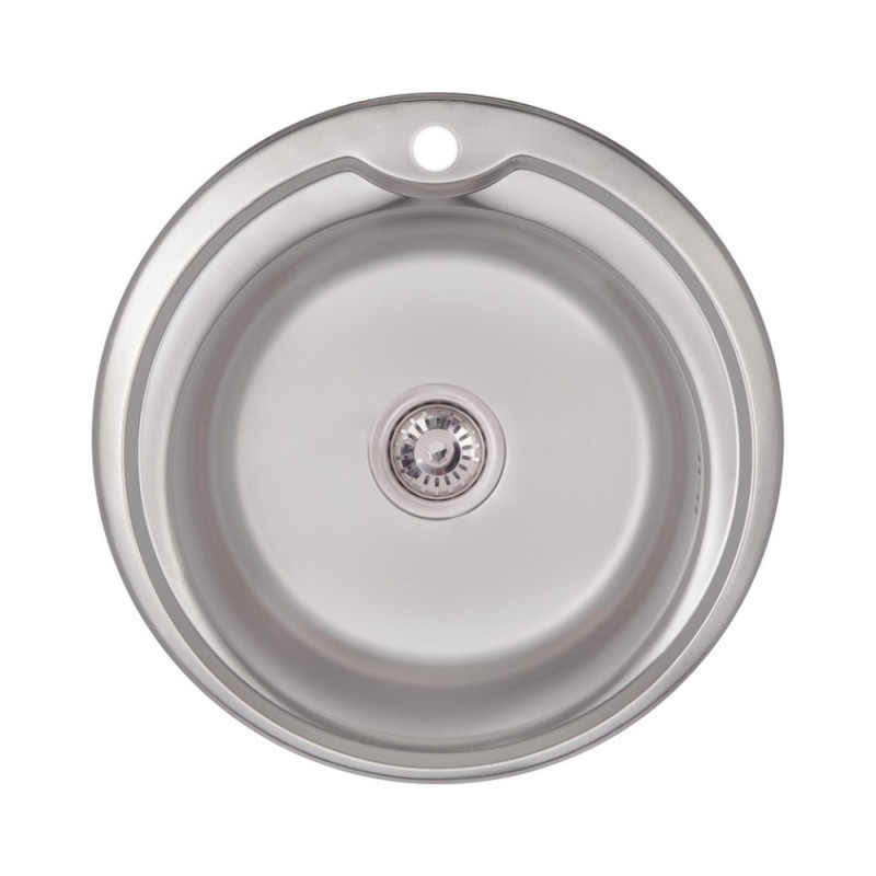 Кухонная мойка Lidz 510-D Satin 0,6 мм (LIDZ510D06SAT)