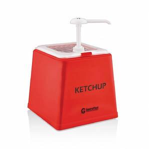 Дозатор-диспенсер для кетчупа/соуса порционный 2 л. с помпой (дозировка 20 мл), полипропиленовый, же