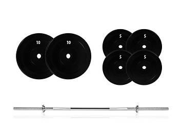 Штанга разборная 50 кг прокачатьруки, грудные мышцы, спину, а также плечи