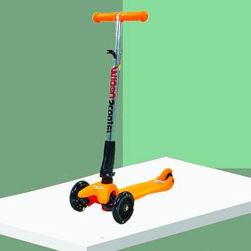Дитячий самокат для маленьких зі світними колесами. Самокат дитячий з двома передніми колесами (SV)