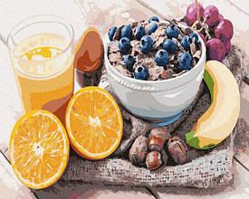 Картина по номерам Разнообразный завтрак