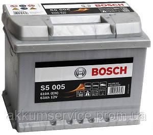 Акумулятор автомобільний Bosch S5 Silver 74Ah R+ 750A євро (S5 007)