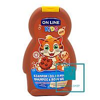 Детский шампунь и гель On Line Chocolate Cookie 250 мл