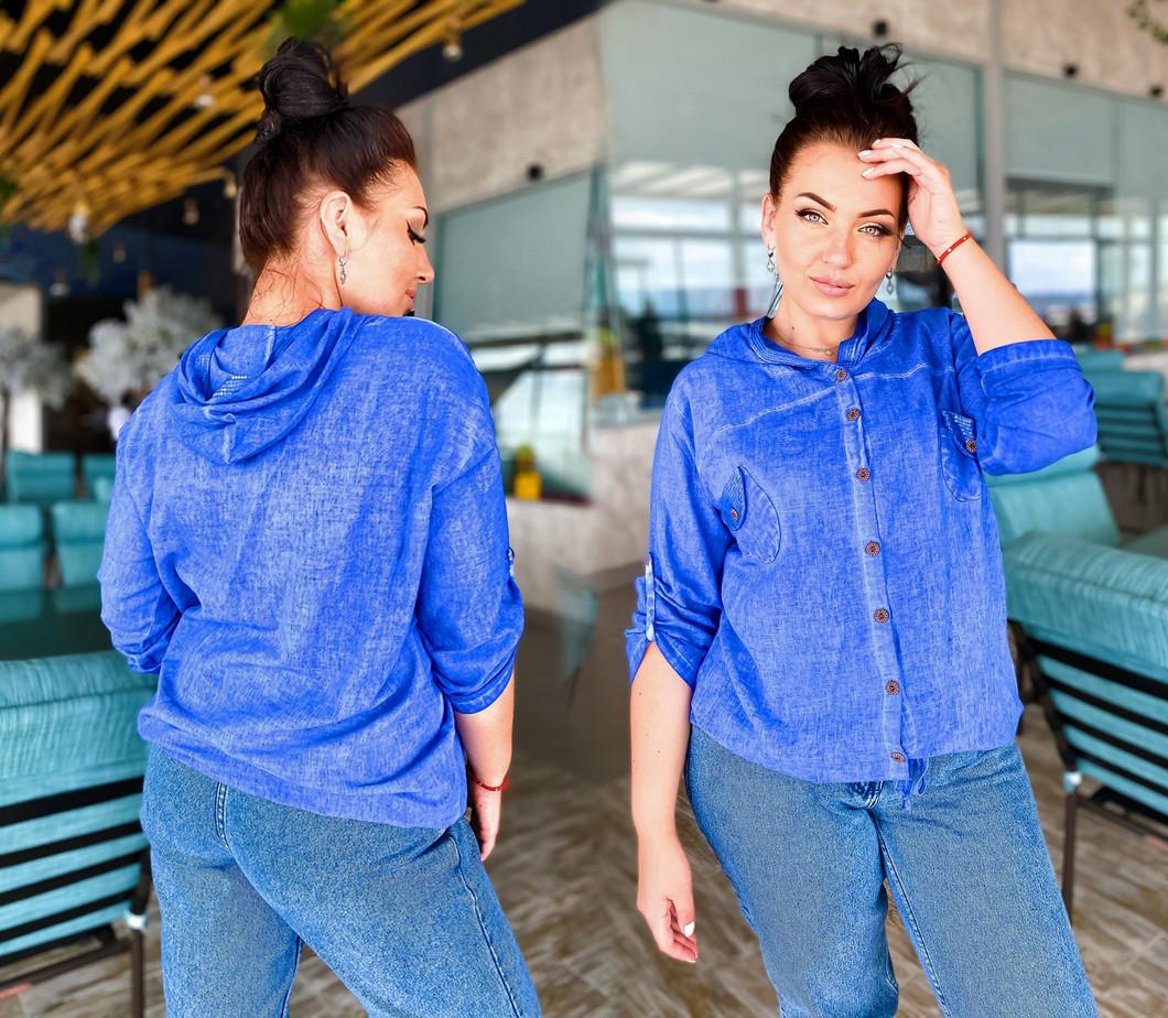 """Женская летняя рубашка до больших размеров 02 """"Коттон Варёнка Спина Макраме"""" в расцветках"""