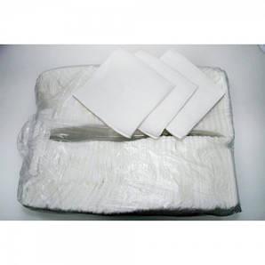 Салфетка бумажная 1-но слойная 24х24 см., 500 шт/уп белая Каштан