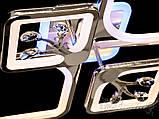 Потолочная люстра с диммером и LED подсветкой, цвет хром 8157/2+2HR LED 3color dimmer, фото 6