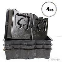 Форма для бордюра, бордюрный камень 30х19х7см, Украина - Акция! 4 шт.