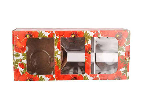Набор салатников стекло ОСЗ Мак 5 предметов, фото 2