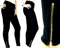 Лосины-брюки Бамбук на меху со змейками M-L,XL-XXL