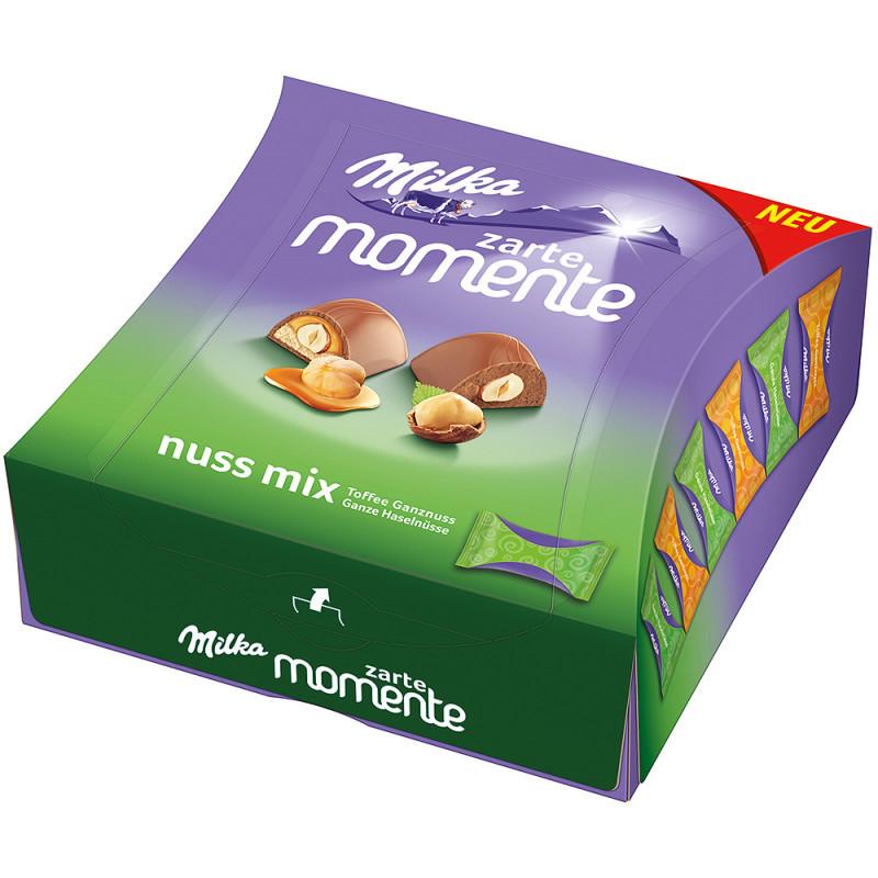 Шоколадные конфеты Milka Moments Nuts Mix 169 g