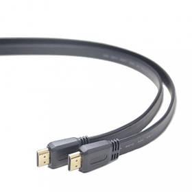 Кабель Cablexpert CC-HDMI4F-1M (HDMI V.1.4, папа/папа, позолоч.контакты, плоский, 1 м)