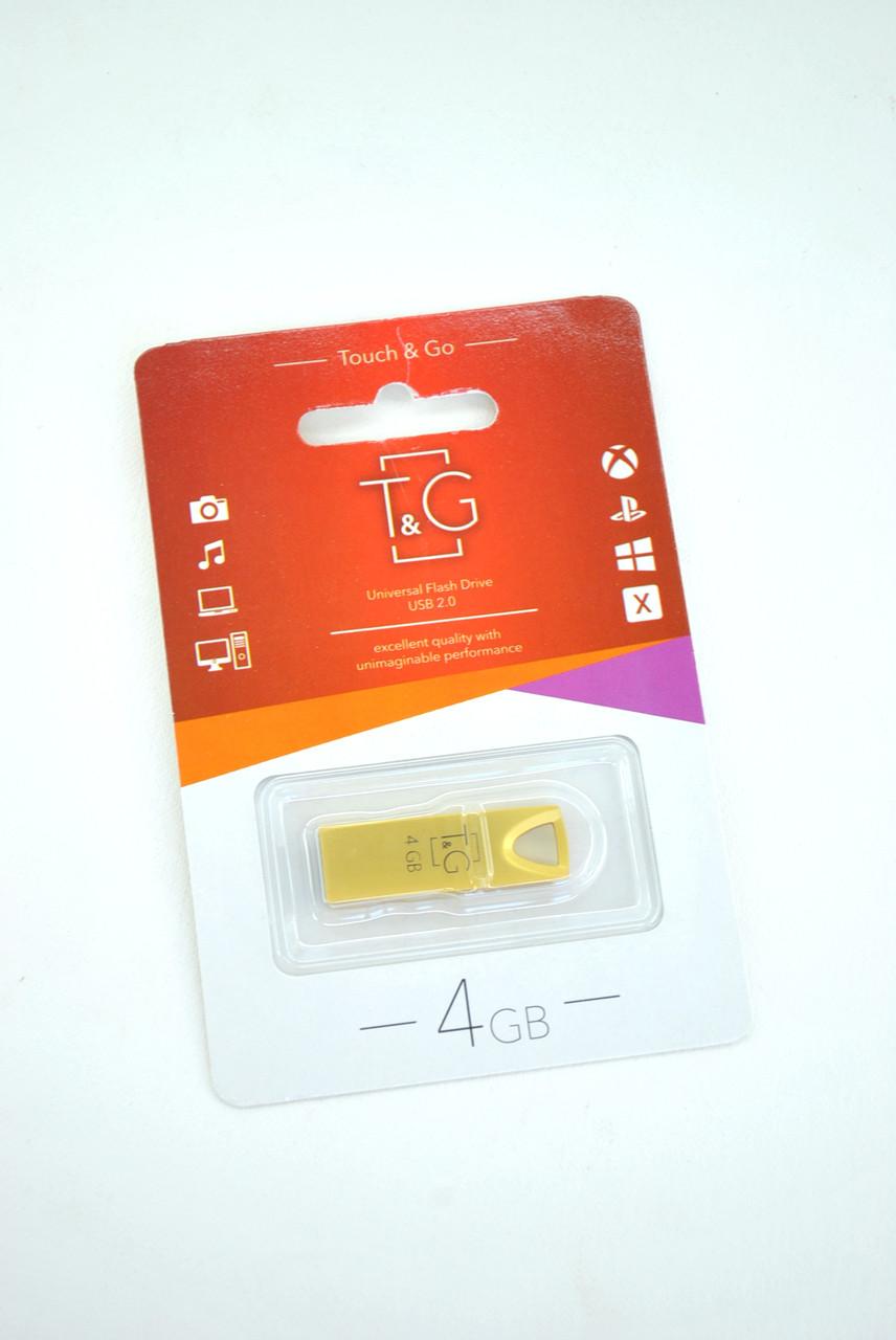 Флеш-накопитель USB 4Gb T&G 117 Metal series Gold
