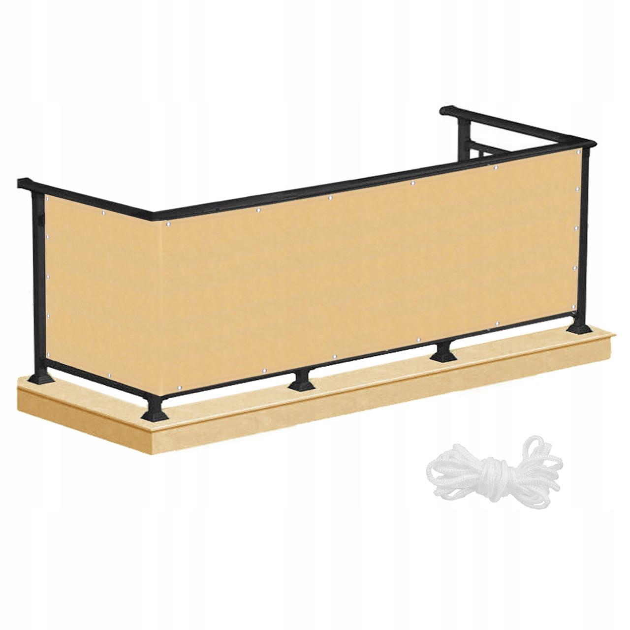 Ширма для балкона (балконний завісу) Springos 0.8 x 5 м BN1015 Biege