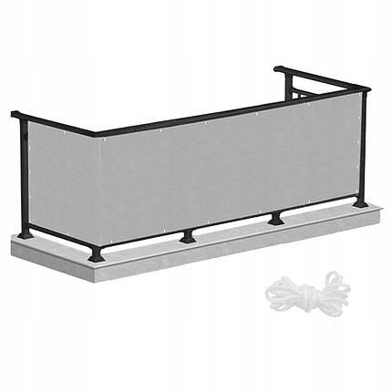 Ширма для балкона (балконный занавес) Springos 1 x 7 м BN1015 Grey, фото 2