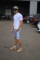 Комплект The North Face белая футболка серые шорты, фото 1
