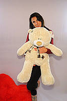 Мишка Тедди 80 см, плюшевые медведи. мягкая игрушка мишка. мягкие игрушки украина махра бежевый