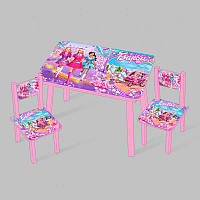 Столик Мини Барби 60х46 см и 2 стула SKL11-181706