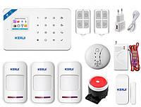 Комплект беспроводной gsm WiFi сигнализации Pro для 2-комнатной квартиры Kerui W18, фото 1
