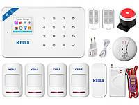 Комплект беспроводной gsm WiFi сигнализации Pro для 3-комнатной квартиры Kerui W18, фото 1