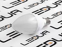Світлодіодна лампа E14 C37 6Вт свічка 220V 4000к