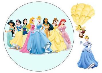 "Вафельна картинка  ""Принцеси"""