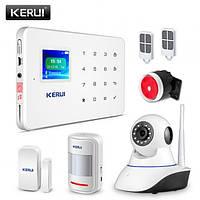 Комплект беспроводной gsm сигнализации с WiFi камерой Z06 2 Mp видеоняня Kerui G18, фото 1