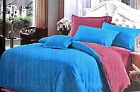 """Стильное постельное белье из сатина евро размер """"Жозефина"""". Двухцветное постельное белье из сатина евро"""