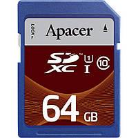 Карта памяти Apacer 64GB SDXC UHS-I Class10 RP (AP64GSDXC10U1-R)