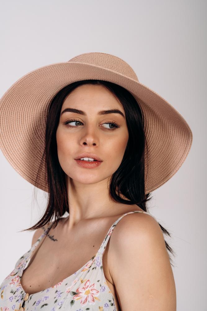 Шляпа слауч Келли оптом SHL 2020 пудровая