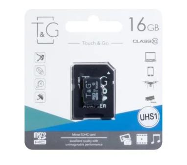 КАРТА ПАМЯТИ T&G MICROSDHC 16GB 10 CLASS & ADAPTER, фото 2