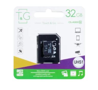 КАРТА ПАМЯТИ T&G MICROSDHC 32GB 10 CLASS & ADAPTER, фото 2